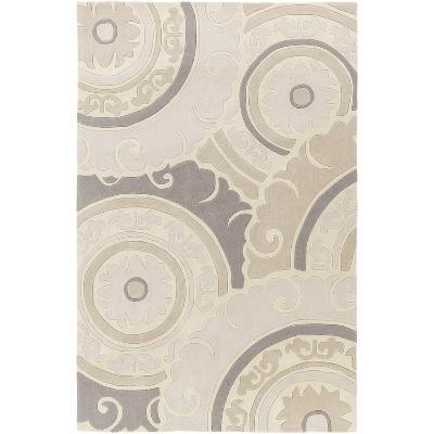 Cosmopolitan Designs Area Rug - Ivory/Light Gray 5' x 8'--Home Accessories