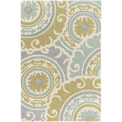 Cosmopolitan Designs Area Rug - Olive/Pale Teal 5' x 8'--Home Accessories