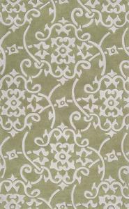 Cosmopolitan Filligree Area Rug - Olive/Light Gray 5' x 8'
