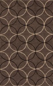 Cosmopolitan Geometra Area Rug - Chocolate/Mocha 5' x 8'