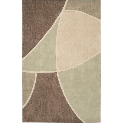 Cosmopolitan Geometra Area Rug - Olive/Beige 5' x 8'--Home Accessories