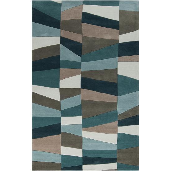 Cosmopolitan Geometra Area Rug - Teal/Moss 5' x 8'--Home Accessories