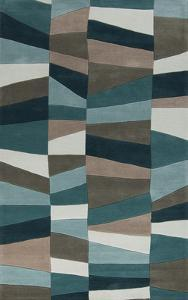 Cosmopolitan Geometra Area Rug - Teal/Moss 8' x 11'