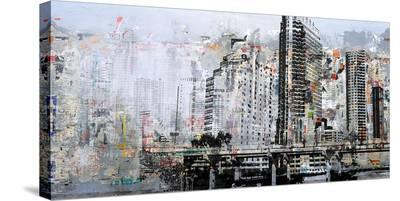 Cosmopolitan Landscape I--Stretched Canvas Print