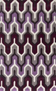Cosmopolitan Maze Area Rug - Eggplant/Violet 5' x 8'