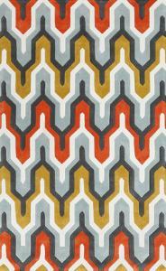 Cosmopolitan Maze Area Rug - Poppy/Gold 5' x 8'