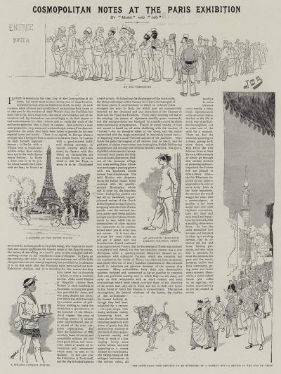 Cosmopolitan Notes at the Paris Exhibition--Giclee Print