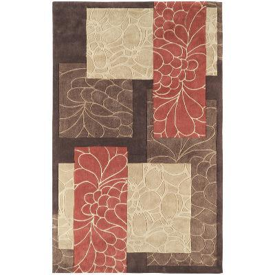 Cosmopolitan Patchwork Area Rug - Chocolate/Rust 5' x 8'--Home Accessories