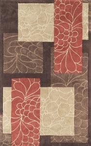 Cosmopolitan Patchwork Area Rug - Chocolate/Rust 5' x 8'