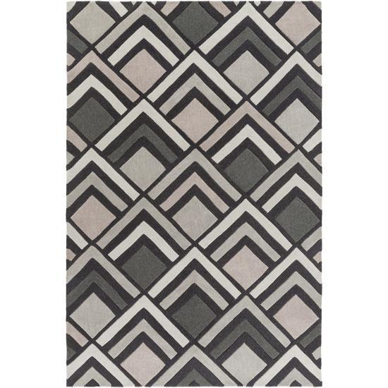 Cosmopolitan Patterns Area Rug - Charcoal/Taupe 5' x 8'--Home Accessories