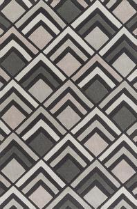 Cosmopolitan Patterns Area Rug - Charcoal/Taupe 5' x 8'