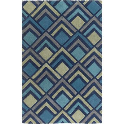 Cosmopolitan Patterns Area Rug - Teal/Olive 5' x 8'--Home Accessories