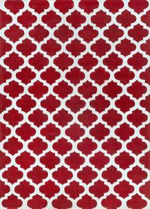 Cosmopolitan Shapes Area Rug - Cherry/Light Gray 5' x 8'
