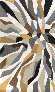 Cosmopolitan Shards Area Rug - Light Gray/Gold 5' x 8'