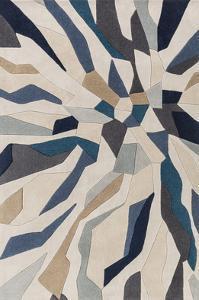 Cosmopolitan Shards Area Rug - Teal/Light Gray 5' x 8'