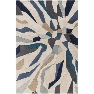 Cosmopolitan Shards Area Rug - Teal/Light Gray 8' x 11'--Home Accessories