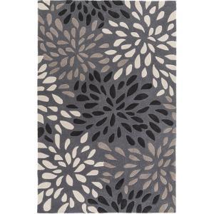 Cosmopolitan Splash Area Rug - Charcoal/Light Gray 5' x 8'