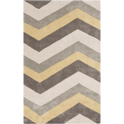 Cosmopolitan Stripes Area Rug - Butter/Gray 5' x 8'--Home Accessories