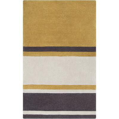 Cosmopolitan Stripes Area Rug - Gold/Charcoal 5' x 8'--Home Accessories