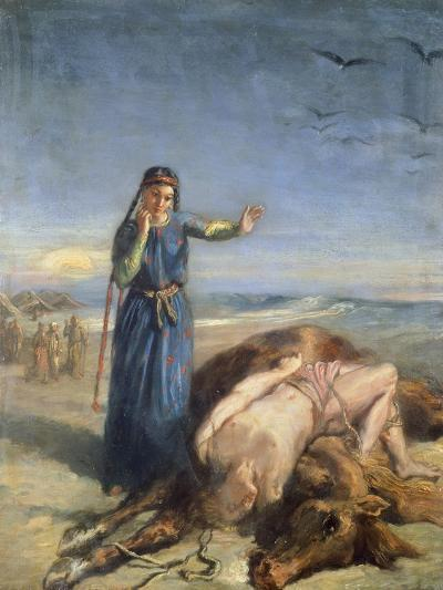 Cossack Girl Finding Body of Mazepa, 1851-Theodore Chasseriau-Giclee Print