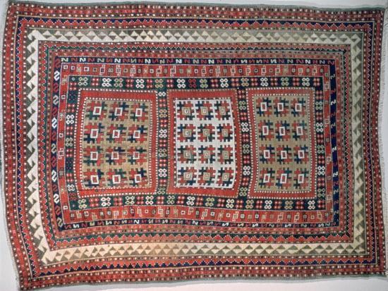 Cossack rug, Bordjalou district, Caucasus. Artist: Unknown-Unknown-Giclee Print
