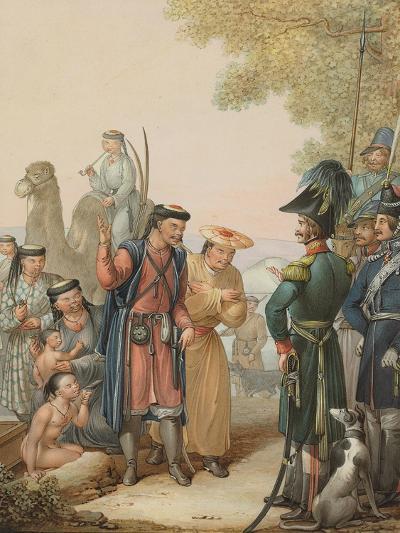 Cossacks and Kalmyks-Georg Emanuel Opitz-Giclee Print
