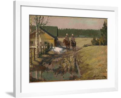 Cossacks on Horseback, 1916-Ivan Alexeyevich Vladimirov-Framed Giclee Print