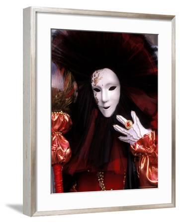 Costume and Mask, Venice Carnival, Italy-Kristin Piljay-Framed Photographic Print