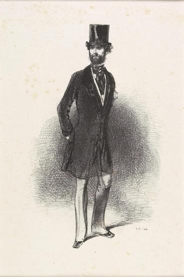 Costume D'Hiver, Par Humann, 1846-Paul Gavarni-Giclee Print