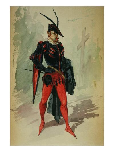 Costume Design by G. Palanti for the Opera Mephistopheles by Arrigo Boito-Giuseppe Palanti-Giclee Print