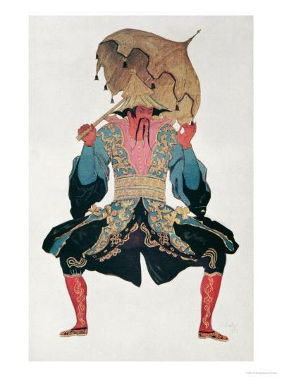 Costume Design For a Chinaman, from Sleeping Beauty, 1921-Leon Bakst-Giclee Print
