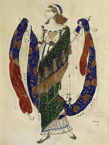 Costume Design for a Dancer from 'Cleopatra', 1910-Leon Bakst-Premium Giclee Print