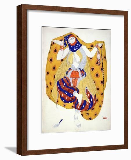 Costume Design for a Dancer in 'Scheherazade', a Ballet First Produced by Diaghilev-Leon Bakst-Framed Giclee Print