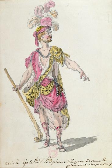Costume Design for a Performance in Paris in 1762 of Lully's Opera 'Acis Et Galatee'-Nicolas Boquet-Giclee Print
