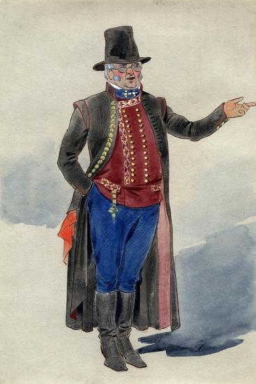 Costume Design for Dear Little Denmark, Prince of Wales Theatre, 1909--Giclee Print