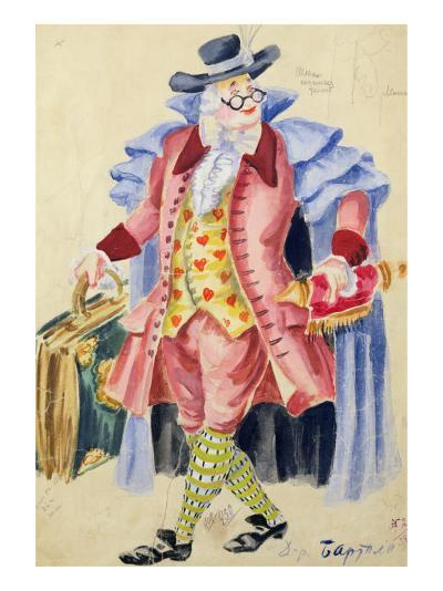 Costume Design for Mozart's 'The Marriage of Figaro', 1936-Jakov Zinovyevich Stoffer-Giclee Print