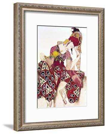 "Costume Design for Nijinsky in the Ballet ""La Peri"" by Paul Dukas 1911-Leon Bakst-Framed Giclee Print"