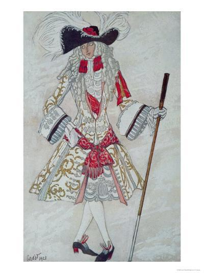 Costume Design For Prince Charming at Court, from Sleeping Beauty, 1921-Leon Bakst-Giclee Print