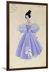 Costume Design for Tatania in the Opera 'Eugene Onegin' by Tchaikovsky (1840-93)