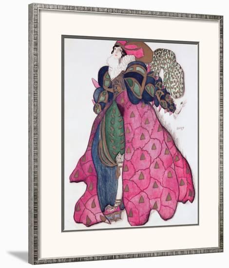 Costume Design for the Ballet 'La Legende de Joseph', 1914-Leon Bakst-Framed Giclee Print