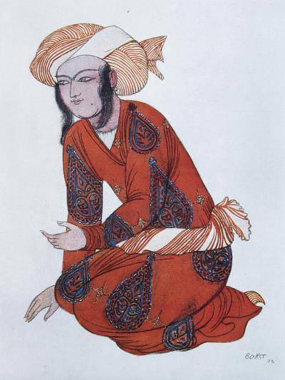 Costume Design for the Ballet Sheherazade, 1922-L?on Bakst-Giclee Print