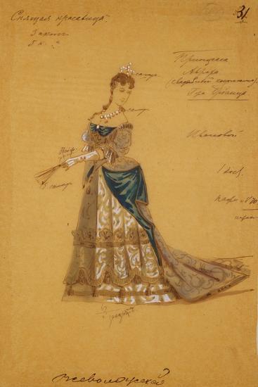 Costume Design for the Ballet Sleeping Beauty, 1887-Ivan Alexandrovich Vsevolozhsky-Giclee Print