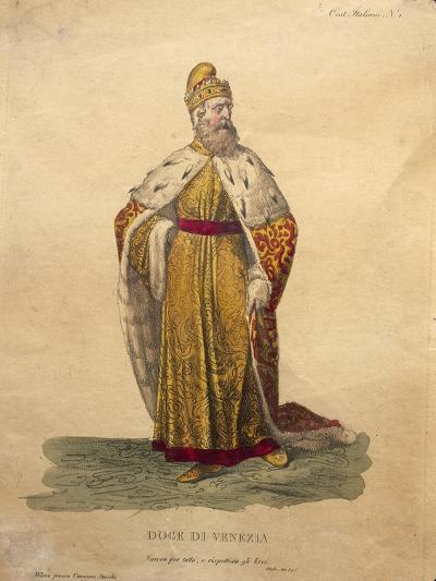 Costume Design for the Doge of Venice, from 'Othello'--Giclee Print