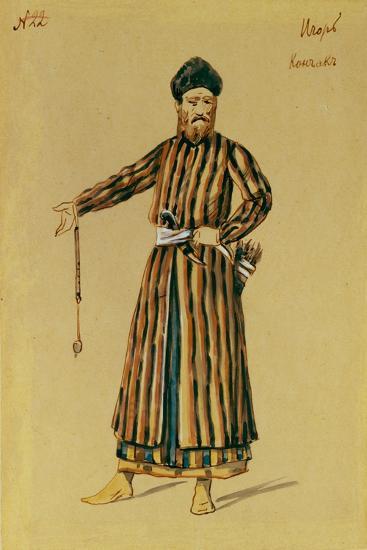 Costume Design for the Opera Prince Igor by A. Borodin, 1890-Evgeni Petrovich Ponomarev-Giclee Print