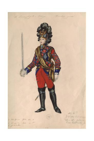 Costume Design for the Opera Queen of Spades by P. Tchaikovsky, 1981-Nina Alexandrovna Vinogradova-Benois-Giclee Print