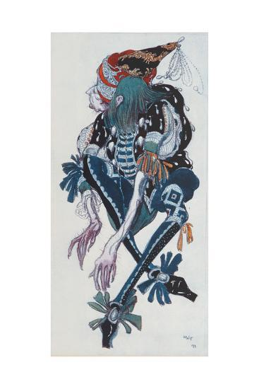 Costume Design for the Pageboy of the Wicked Fairy Carabosse, from Sleeping Beauty, 1918-Leon Bakst-Giclee Print