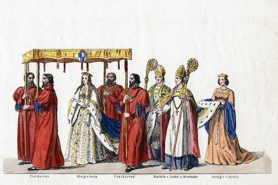 Costume Designs for Shakespeare's Play, Henry VIII, 19th Century--Giclee Print