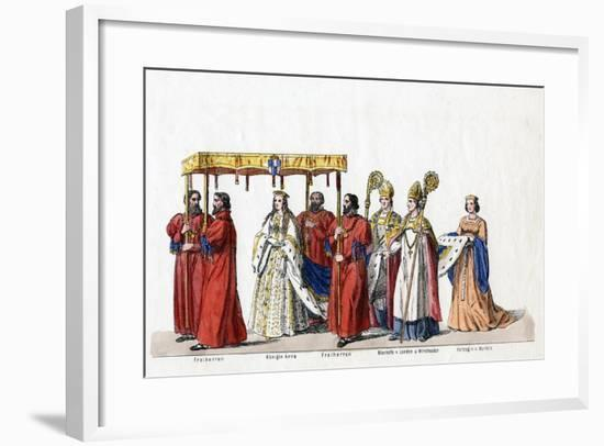 Costume Designs for Shakespeare's Play, Henry VIII, 19th Century--Framed Giclee Print