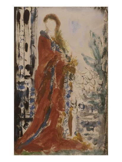 Costume du matin pour un portrait moderne-Gustave Moreau-Giclee Print
