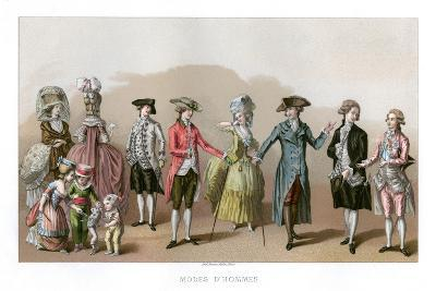 Costume During the Time of Louis XVI- Durin-Giclee Print